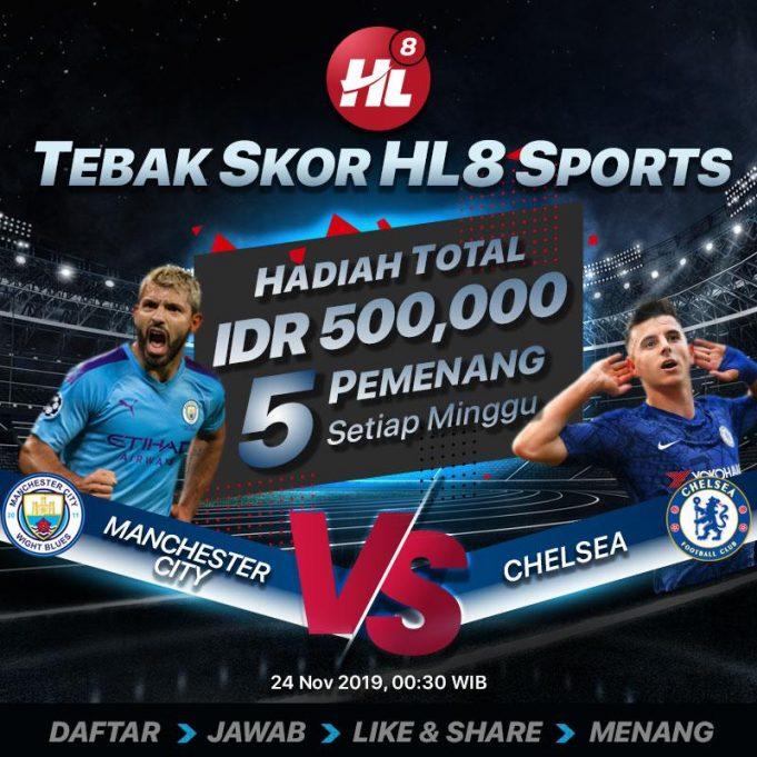 Event Tebak Skor Manchester City VS Chelsea Berhadiah Ratusan Ribu Rupiah !!
