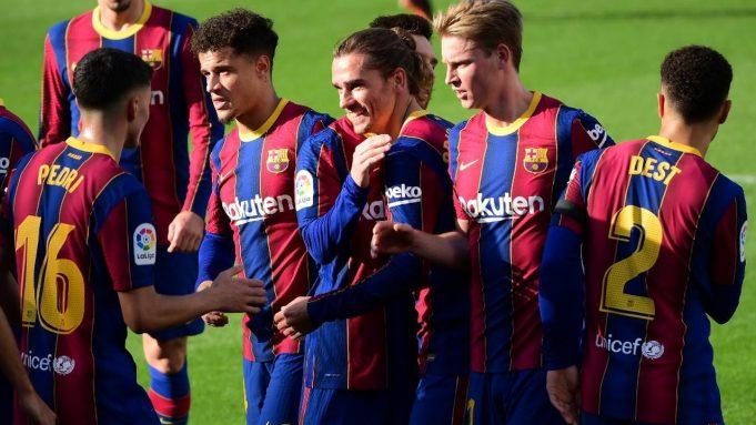 Barcelona meraih kemenangan 4-0 atas Osasuna pada laga lanjutan pekan ke-11 La Liga 2020-2021 di Camp Nou, Minggu (29/11/2020) malam WIB