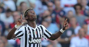 Gelandang Juventus, Paul Pogba, merayakan gol yang dicetaknya ke gawang Genoa pada laga Serie A di Stadion Luigi Ferraris, Genoa, Italia, Minggu (20/9/2015). Musim lalu, Pogba, sukses mengantar Juve juara Serie A.
