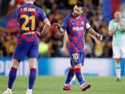 Lionel Messi menjadi inspirasi permainan Barcelona saat berhadapan dengan Inter Milan.