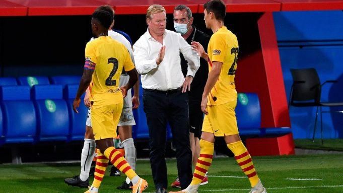 Ronald Koeman berhasil membawa Barcelona meraih kemenangan 3-1 atas Gimnastic pada laga uji coba di Johan Cruyff Stadium, Minggu (13/9/2020) dini hari WIB.