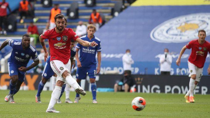Leicester City vs Manchester United, (27/7/2020). Merupakan laga penentuan head to head dengan Leicester City untuk memperebutkan satu tiket ke Liga Champions. Hasil akhir, Manchester United menang 2-0, dimana Bruno Fernandes membuat 1 gol melalui tendangan penalti.